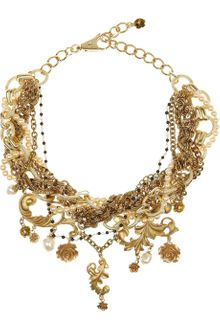 Dolce & Gabbana Goldplated Glass Pearl Necklace - Lyst