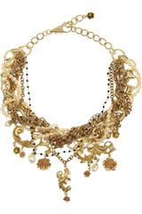 Dolce & Gabbana Goldplated Glass Pearl Necklace