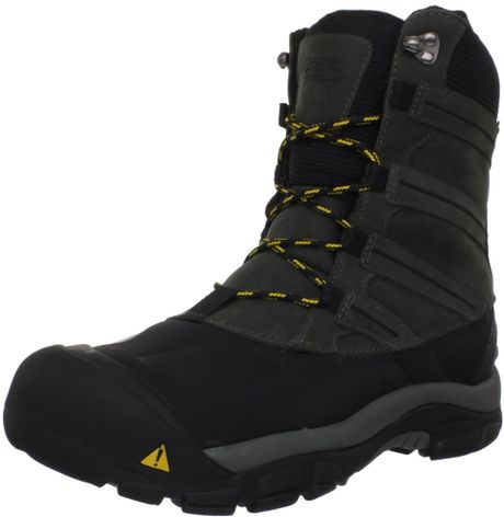 keen keen mens summit count ii snow boot in black for