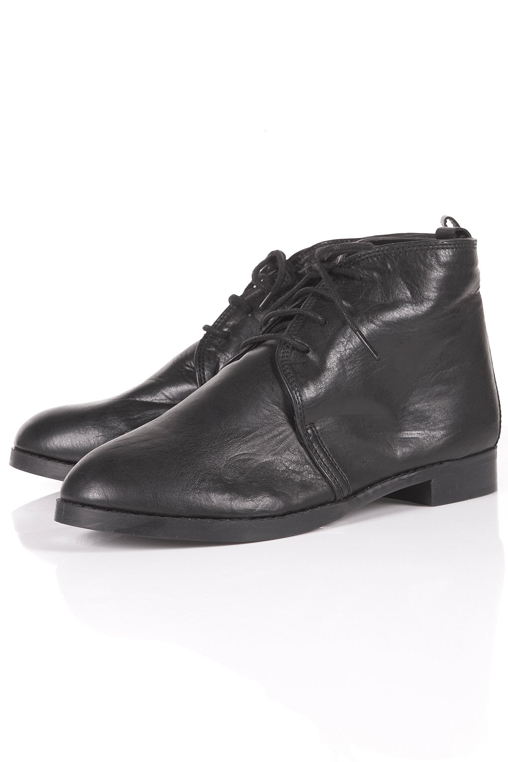 matisse matisse vintage leather boots in black lyst
