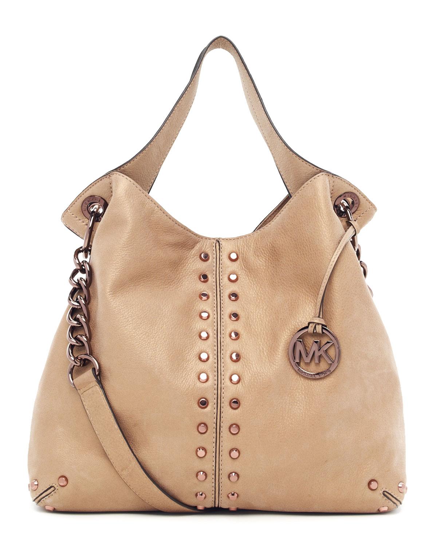 Uptown Astor Large Shoulder Bag Dark Khaki 53