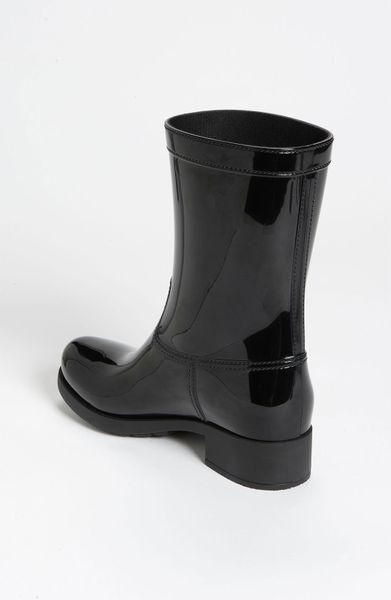 Prada Rubber Rain Boot In Black Lyst