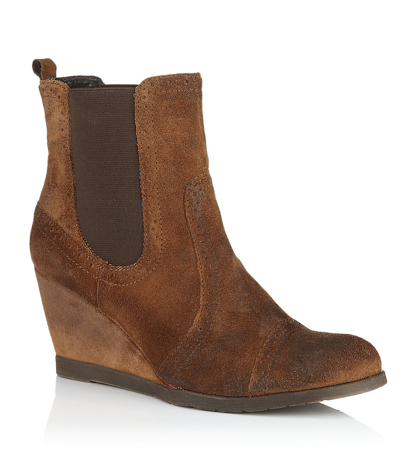 Carvela Kurt Geiger Scaffold Suede Boot In Brown | Lyst