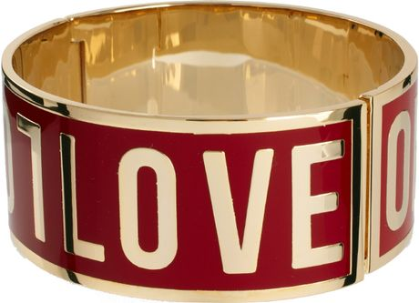 Love Moschino Large Logo Bracelet in Purple (violet)
