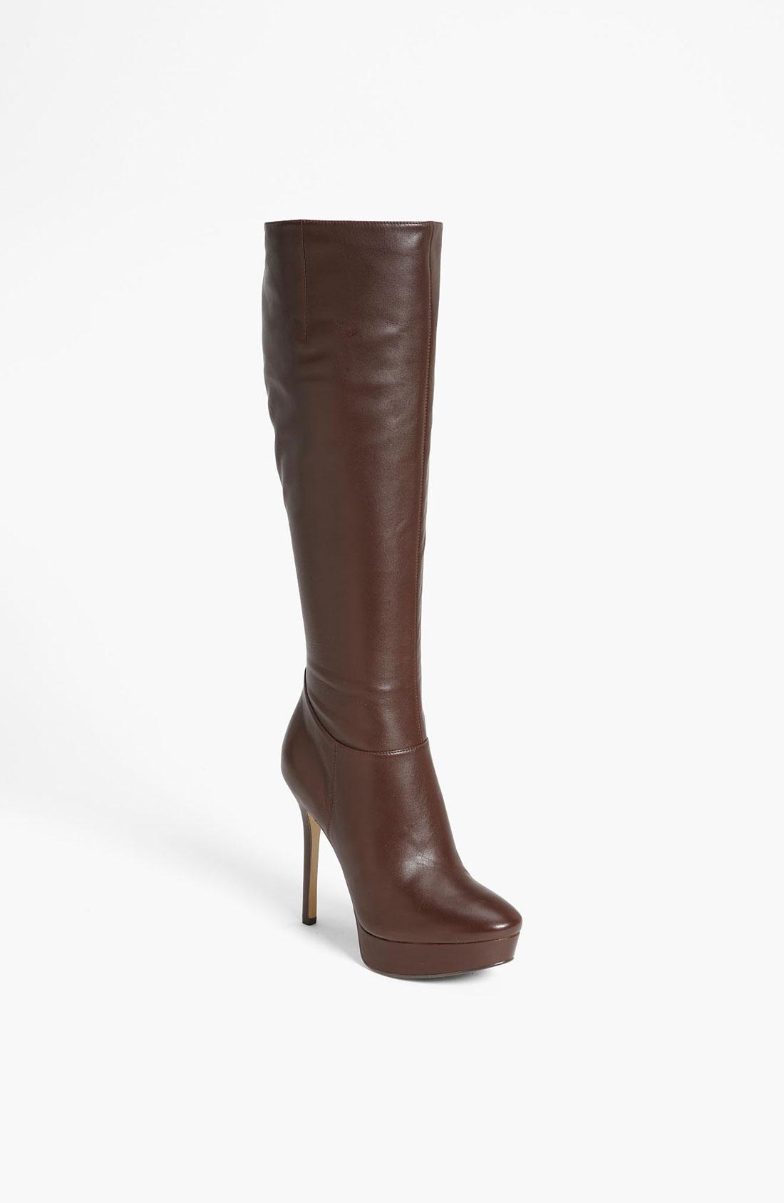 nine west fullblast boot in brown brown leather