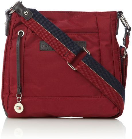 Tommy Hilfiger Aimee Crossbody Bag in Red