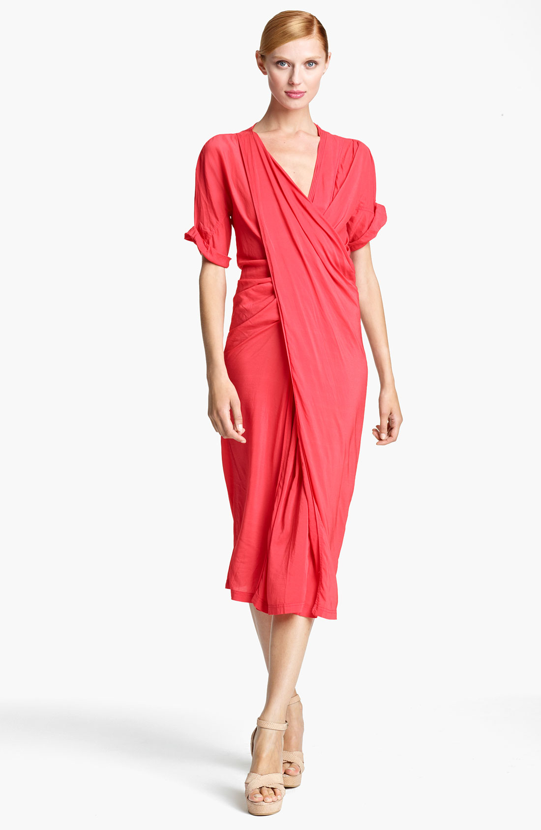 Donna karan new york collection asymmetrical draped crepe for Donna karen new york