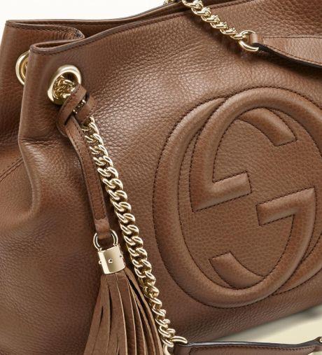 Soho Leather Shoulder Bag Maple Brown 85
