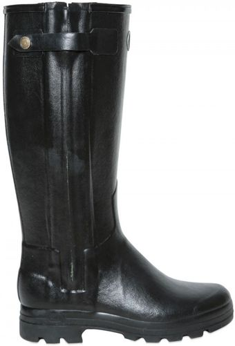 Le Chameau Natural Rubber Leather Rain Boots - Lyst