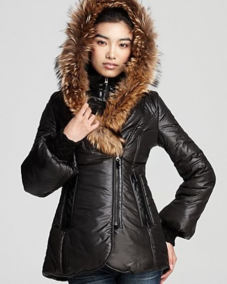 Mackage Peaches Shiny Puffer Coat With Bell Sleeves In