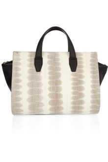 Alexander Wang Pelican Leather and Snakeskin Tote - Lyst
