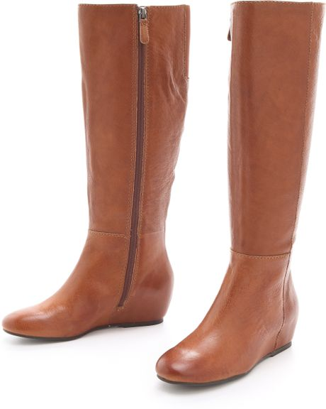 boutique 9 zanny knee high boots in brown cognac lyst