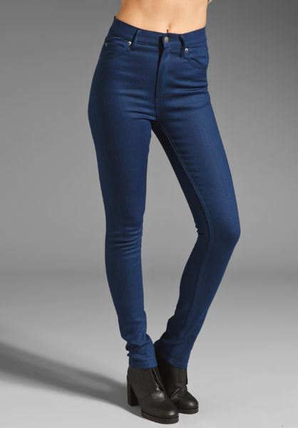 Cheap Monday Second Skin Jeans in Blue (poly indigo blue) - Lyst