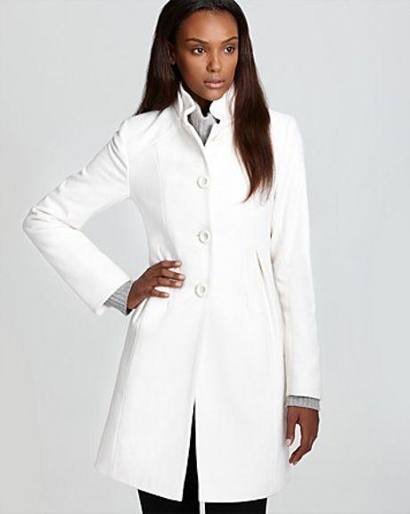 Dkny Walker Coat in White winter white Lyst