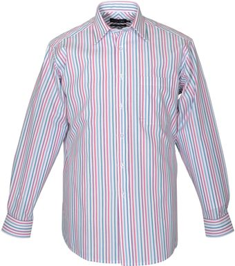 Double Two Long Sleeve Cotton Stripe Formal Shirt - Lyst