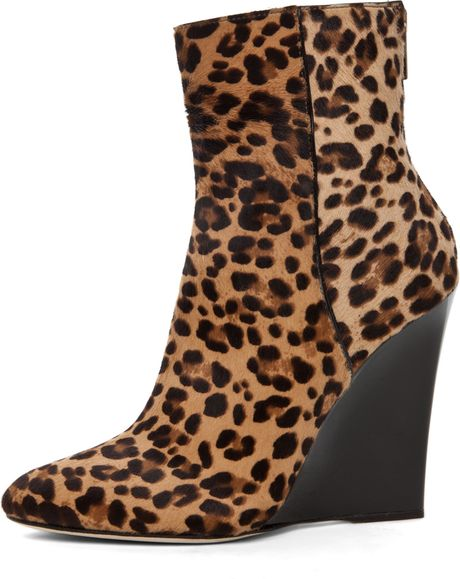 Jimmy Choo Mercury Wedge Bootie In Leopard Print In Animal