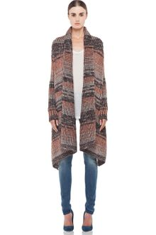Missoni Drape Cardigan in Nude - Lyst
