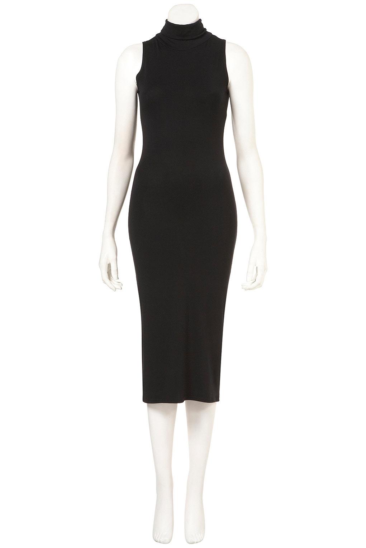 bc9835c3cff6 TOPSHOP Sleeveless High Neck Midi Dress in Black - Lyst