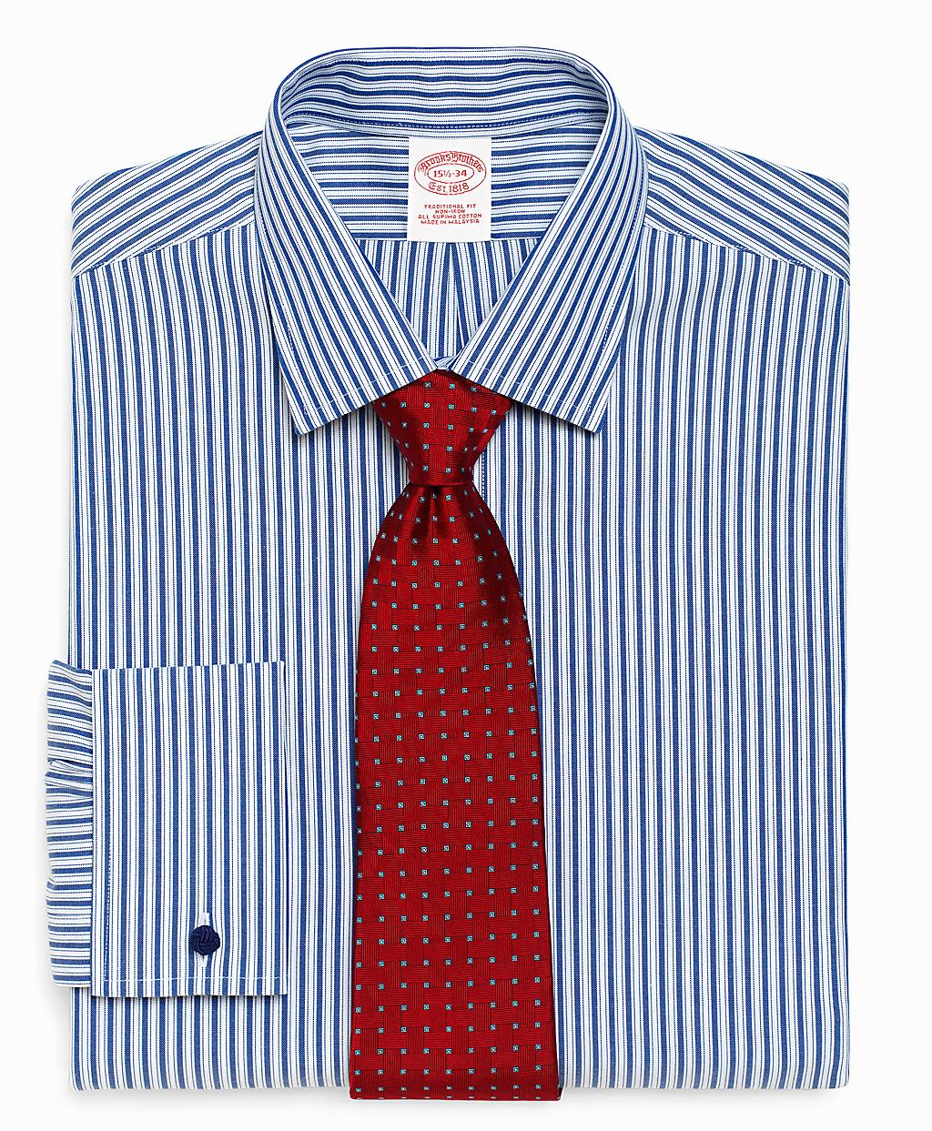 Brooks Brothers Supima Cotton Noniron Traditional Fit Bold