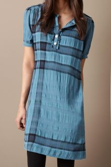 Burberry Brit Cotton Wool Check Dress - Lyst