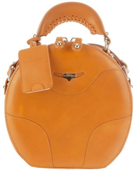 Carven Small Box Bag in Orange (brown)