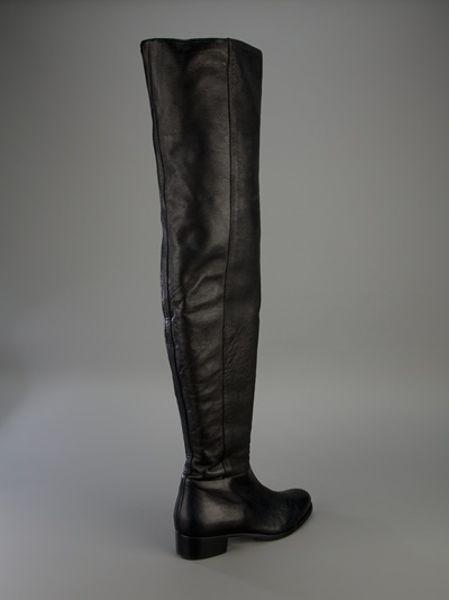 jimmy choo thigh high boot in black lyst