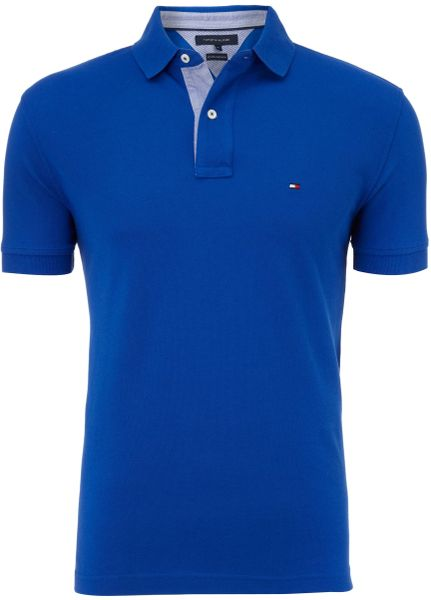 tommy hilfiger classic tommy polo shirt in blue for men lyst. Black Bedroom Furniture Sets. Home Design Ideas