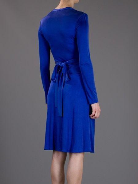 Issa Wrap Dress In Blue Indigo Lyst