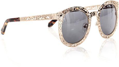 Karen Walker Super Duper Critter Sunglasses in Gold