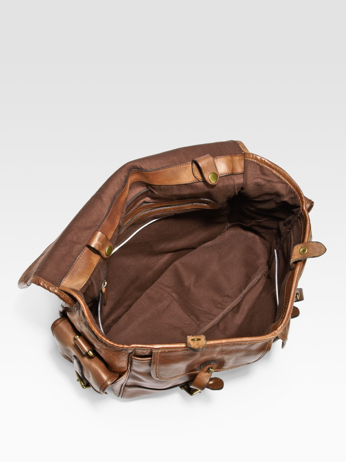4f06c0b33c25 Lyst - Polo Ralph Lauren Leather Messenger Bag in Brown for Men