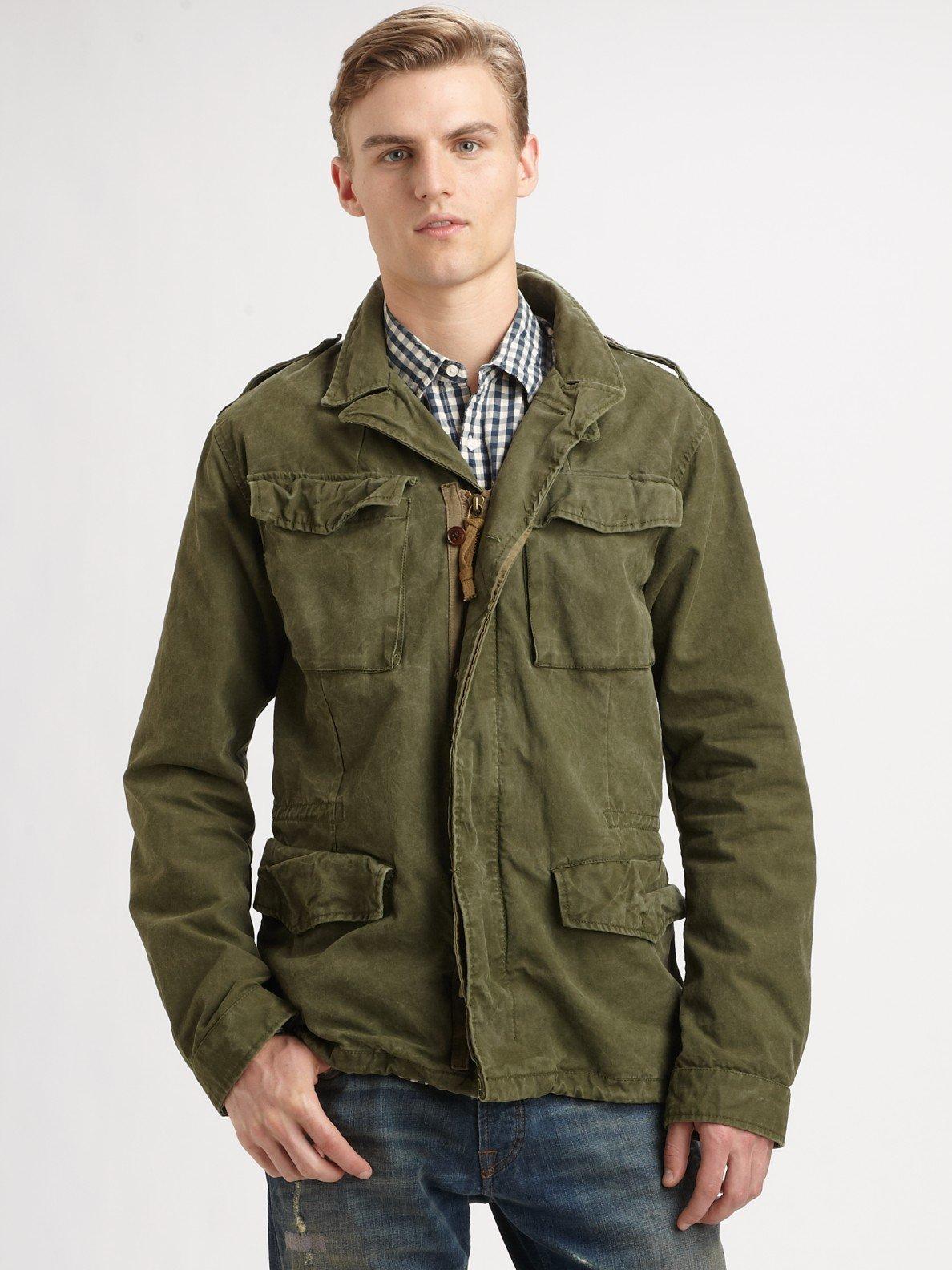 scotch soda military jacket in green for men lyst. Black Bedroom Furniture Sets. Home Design Ideas