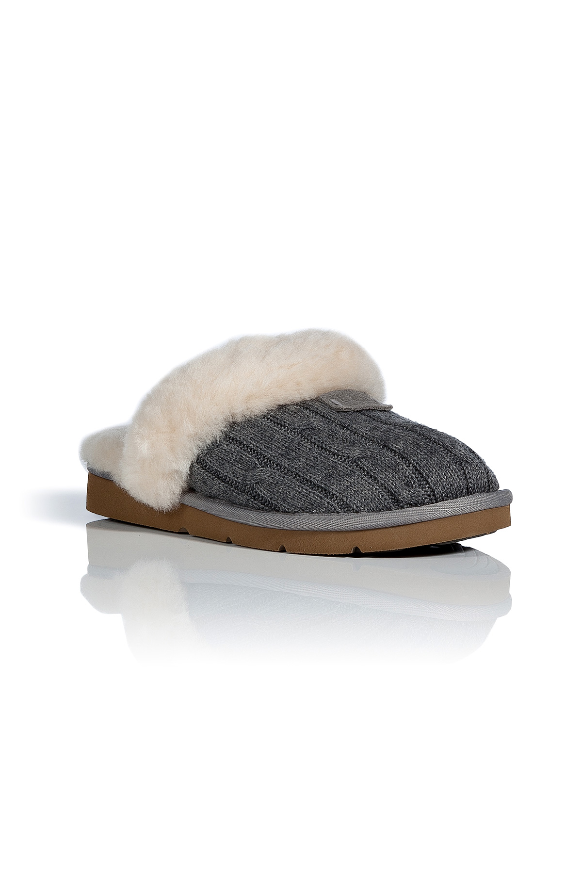 Lyst Ugg Heather Grey Cozy Knit Slippers In Gray