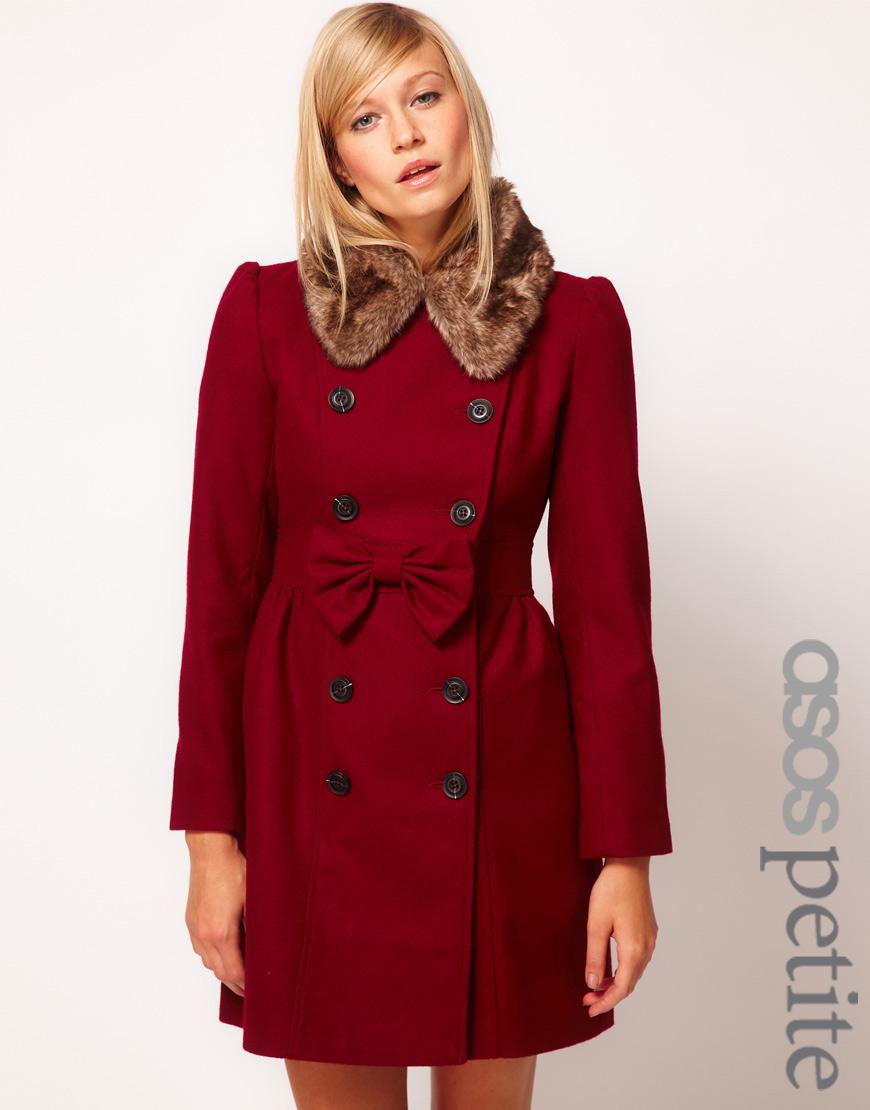 Petite Red Coat | Down Coat