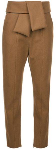 Balenciaga Tie Sash Trouser in Brown