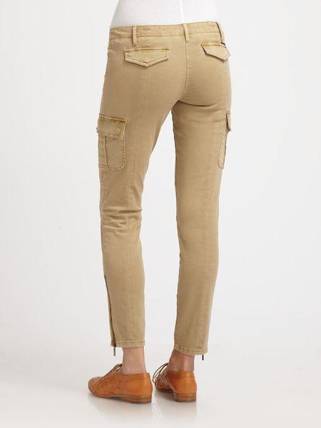 Elegant Free World Messenger Skinny Khaki Cargo Pants