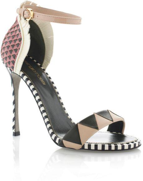 Sergio Rossi Ss Oberoj Ankle Strap High Heel Sandal in Multicolor (musico)