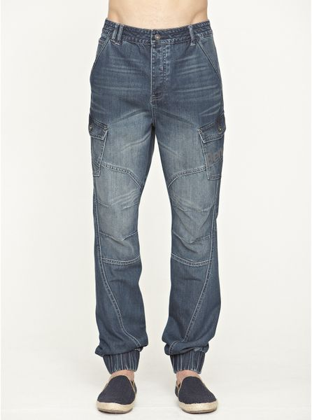 Bench Bench Fader Carrot Fit Mens Jeans in Blue for Men dark_wash