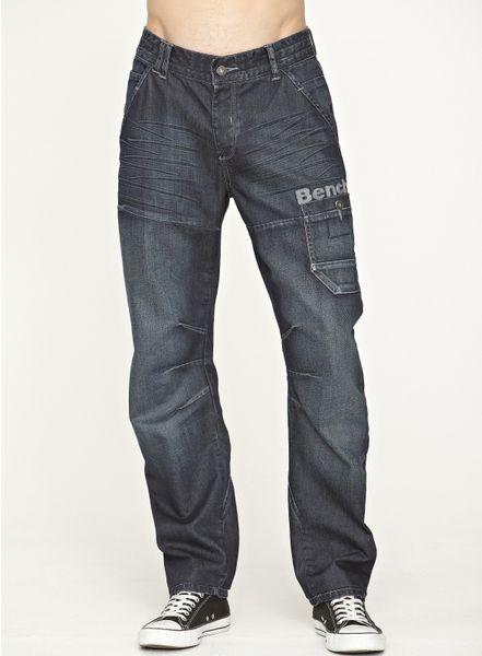 bench bench mens tracking denim jeans in blue for men