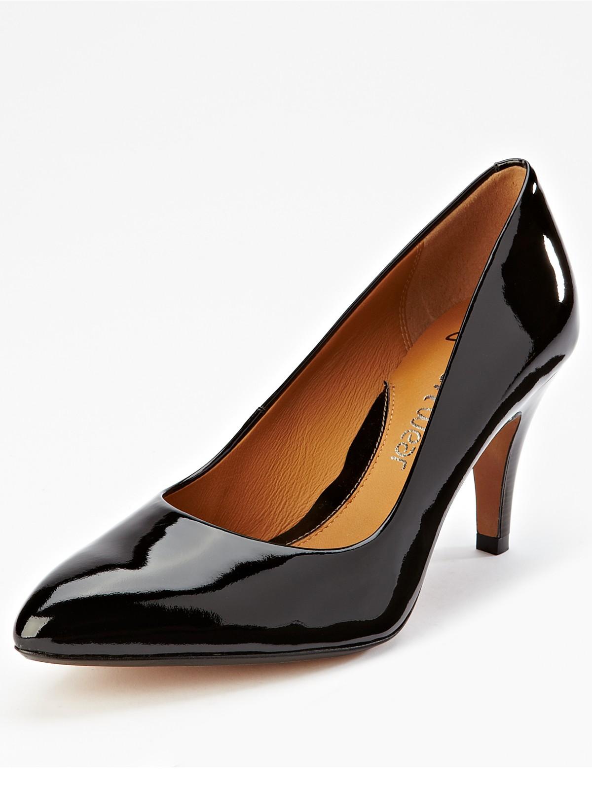 clarks clarks cedar chest patent stiletto shoes black in