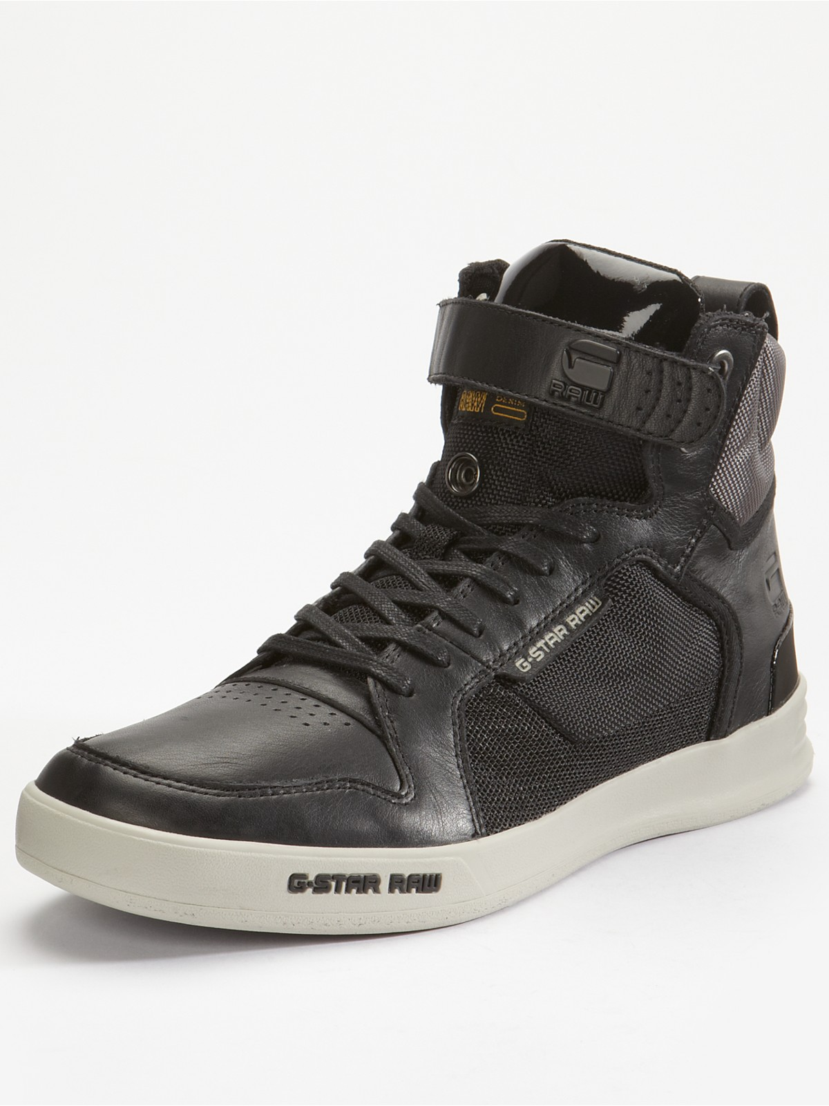 g star raw raw bullion hi top mens boots in black for men lyst. Black Bedroom Furniture Sets. Home Design Ideas