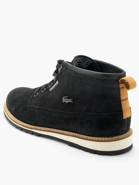 Mens leather gloves ugg - Lacoste Delevan Mens Boots In Black For Men Lyst