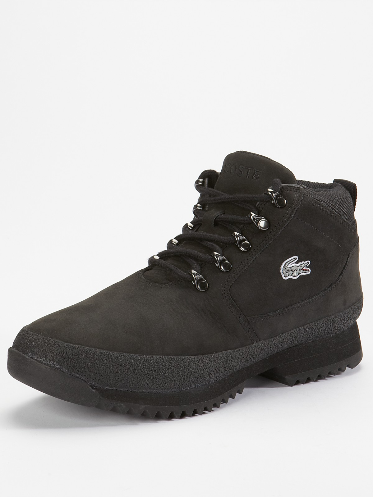 lacoste lacoste upton mens nubuck boots in black for