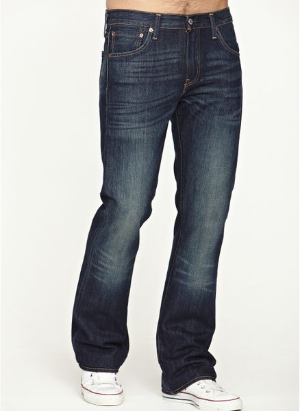 Levis Levis 527 Mens Bootcut Jeans In Blue For Men mostlymidblue