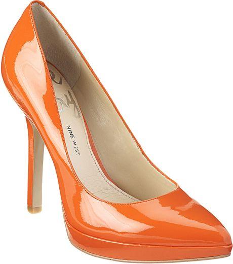 a436c18e1603 Nine West Love Fury in Orange (orange patent leather)