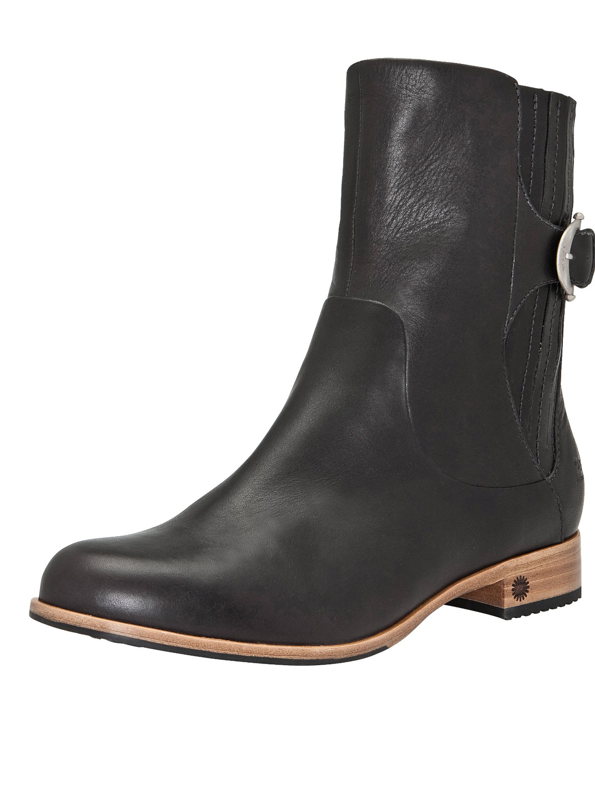 ugg finnegan leather ankle boots in black lyst