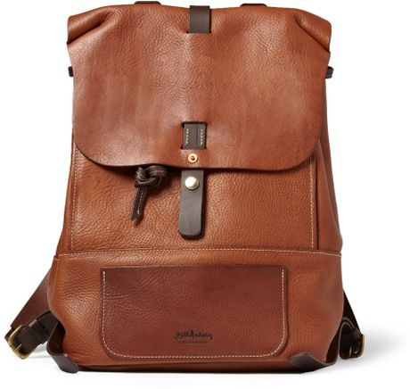 bill amberg hunter fullgrain leather backpack in brown for men lyst. Black Bedroom Furniture Sets. Home Design Ideas