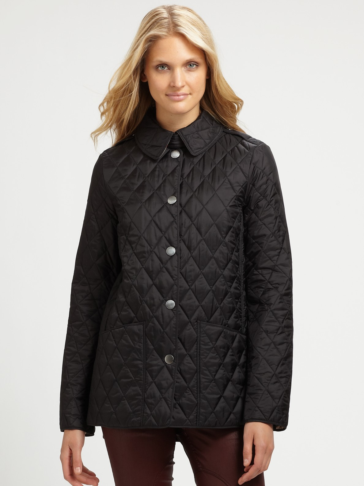 Lyst - Burberry brit Pirmont Quilted Jacket in Black : burberry pirmont quilted jacket - Adamdwight.com