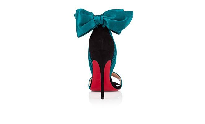 christian louboutin vampanodo satin and suede bow platform sandals