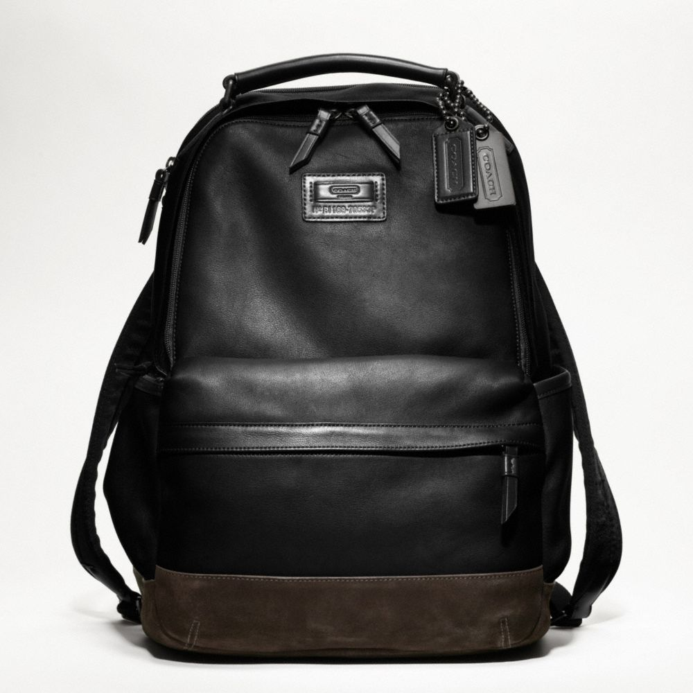 Lyst Coach Rivington Leather Backpack In Black For Men