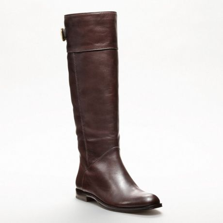 coach maely boot in brown chestnut lyst